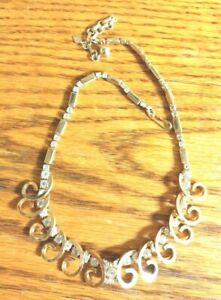 """Sarah Coventry Goldtone Crystal Necklace 18"""""""