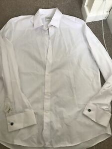 next mens shirt 16.5 White Collared Shirt Brand New With Tags