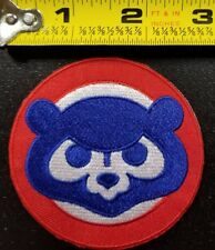 """Chicago Cubs MLB 2.75"""" Iron/Sew On Cub Face Patch~FREE SHIPPING FROM U.S.A.~"""