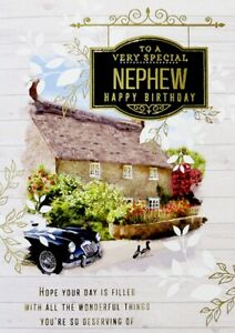 """Traditional Country Cottage """"SPECIAL NEPHEW"""" Birthday Card"""