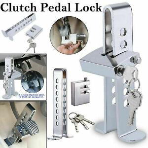 Diebstahlsicherung Auto Car Bremse Kupplungspedal Lock Stainless Strong Security + 3 Schlüssel