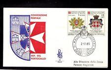 FDC SMOM convenzione postale con il Portogallo