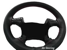 FOR 2003-2009 TOYOTA PRIUS MK2 BLACK LEATHER STEERING WHEEL COVER PINK STITCHING