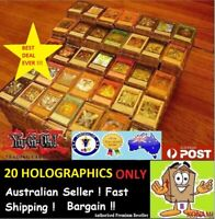 YuGiOh! 20 HOLOS HOLOGRAPHICS ONLY Bulk Cards Pack  GENUINE KONAMI