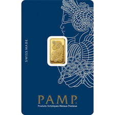 2.5g gold bar Pamp - new, sealed with certificate, QR code verification via App