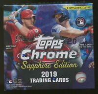2019 Topps Chrome Sapphire Edition Baseball Random Team 1 Box Break