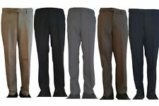 MENS EXPANDABLE SELF ADJUSTING STRETCH  WAIST BAND TROUSERS CASUAL OFFICE PANTS