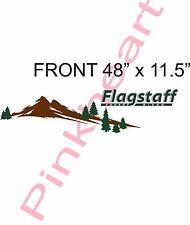 Front Flagstaff mountain scene RV sticker decal graphics trailer camper USA kit