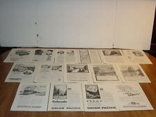 UNION PACIFIC RAILROAD 96 PAGES VINTAGE NATIONAL GEOGRAPHIC PRINT ADS 1927 60