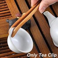 Kitchen Tool Food Toast Bacon Sugar Tweezer Tea Tongs Bamboo Wood Salad Clip