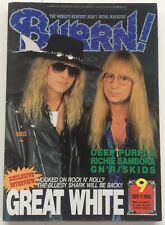BURRN Japan Magazine 9 1991 GREAT WHITE COVER