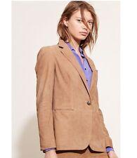 NWT Lauren Ralph Lauren Notch Lapel Suede Hunter Tan Blazer Jacket Coat $798