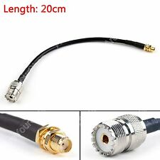 20cm RG58 Cable SMA Female Jack To SO239 UHF Female Straight Coax Pigtail 8in B1