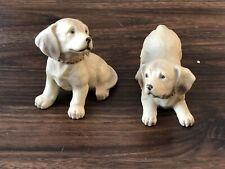New ListingVintage Homco Golden Labrador Retriever Dog Puppy Figurines #1408