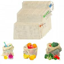 Mesh Reusable Cotton Grocery Bags Vegetable Fruit Toy Storage Pouch Shopping Bag