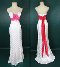 NEW $500 Jovani Sleeveless Evening Long Gown Prom Formal Size 0 Dress Ivory Pink