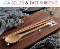 Wooden Spoon and Chopstick Set Eco-friendly Utensil Home Kitchen Tableware Set