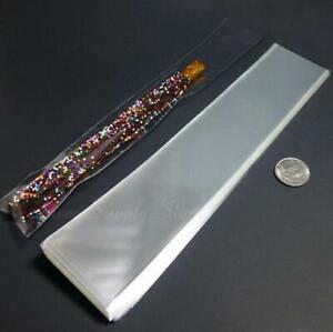 """Clear Plastic Cellophane Party Treat Favor Pretzel Rod Bags - 2 x 10"""""""