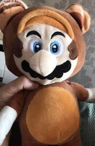"""Nintendo Super Mario Tanooki 12"""" Plush Whitehouse Leisure Soft Cuddly Toy"""