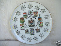 """Canada Coats-Of-Arms & Emblems Collector 8""""  Plate"""