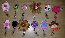 12 Retractable Badge ID Lot Clips mixed