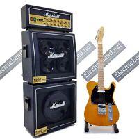Mini Guitar Bruce Springsteen telecaster + Amplifier 1:4 miniature collectible