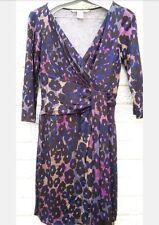 DvF Diane von Furstenberg Genuino Vestido Envolvente. Bodas Carreras Tamaño 10-12