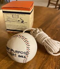1960's All Purpose Practice Baseball-On-A-Rope New Old Stock-Mint Condition.