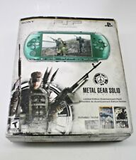 Sony PSP 3000 Console Green Metal Gear Solid Peace Walker Edition in Box *RARE*