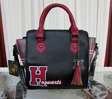 Harry Potter Hogwarts Varsity Letter Plaid Satchel Crossbody Bag NWT
