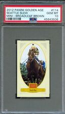 2012 Panini Golden Age Mini Broadleaf Brown #114 SEATTLE SLEW PSA 10 GEM MINT