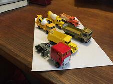 Lot of 6 diecast work trucks Yatming Matchbox Majorette