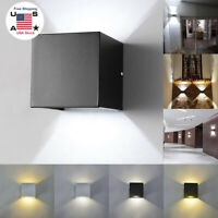 LED Wall Lamp Modern Up Down Sconce Lighting Fixture Cube Light Indoor Decor 12W