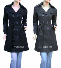 Regular Size Trench Cotton Coats and Jackets for Women