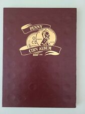 LINCOLN CENTS 1909-1980 PENNY 1¢ COIN ALBUM FOLDER 4 SECTION ~ PARTIALLY FILLED