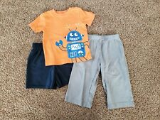 Toddler Boy Clothes Size 18 Months, Robot Shirt,  Performance Shorts