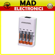Mains Alkaline NiMH AAA / AA Battery Charger