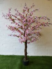 Large Artificial Pink Blossom Tree in a Pot 5ft 1.7m Indoor Outdoor Tree Plant