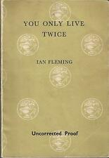 IAN FLEMING - YOU ONLY LIVE TWICE - UK UNCORRECTED PROOF 1964 RARE