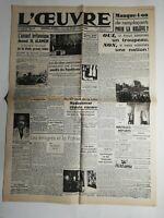 N502 La Une Du Journal L'œuvre 5  novembre 1942 l'assaut britannique
