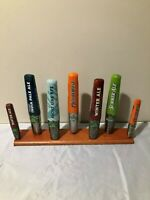 Beer Tap Handle Display Stand Holds 7 Tap Handles Pecan Stain