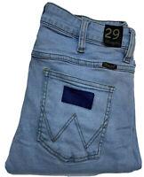 Wrangler Stranglers Blue Faded Slim Leg Skinny Jeans Size 29
