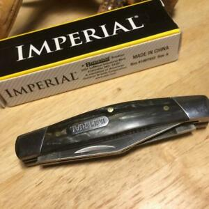 """Imperial Schrade Swirl Celluloid Stockman 3 3/8"""" Pocket Knife IMP16S"""