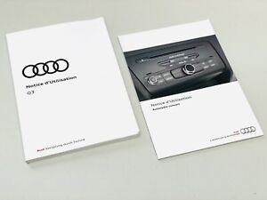 Audi Q3 Französisch 2017 Bedienungsanleitung + Autoradio 8U0012740AE 8U1012740EB