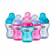 Tommee Tippee Closer to Nature Colour My World Feeding Bottles Girl Decorated...