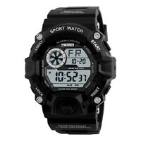 Mens SHOCK LED Digital 5ATM Waterproof Army Military Rubber Wristwatch New Watch