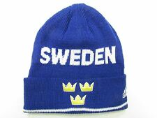 TEAM SWEDEN 2016 WORLD CUP OF HOCKEY ADIDAS CUFFED BEANIE TOQUE HAT