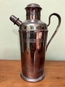 Gorgeous Antique Art Deco A1 Solid Silver Plate Carrington Cocktail Shaker Bar