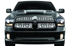 Dodge Ram Truck 1500 2013-2016 - Cold Front Winter Grille Cover STEEL FLAMES