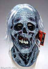 """Chiller"" Mask Decayed Corpse Skull Latex Halloween Horror Mask With Hair"